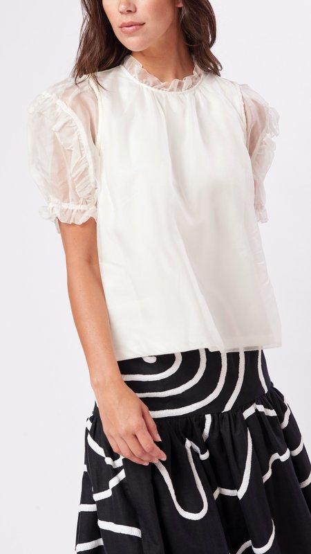 Sea NY Nuria Organza T-Shirt - White