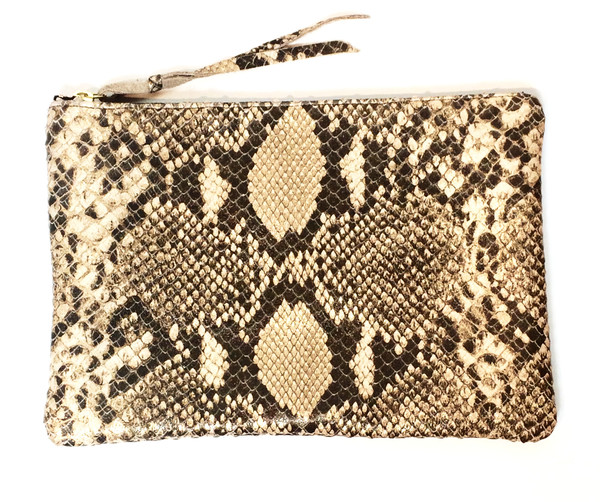 Oliveve queenie in metallic gold cobra embossed cow leather