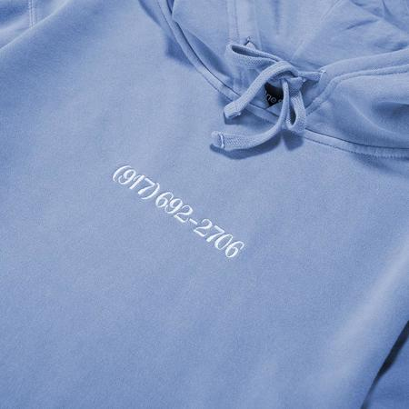 Nine One Seven Small Dialtone Pullover Hoodie - Pigment Dyed Blue