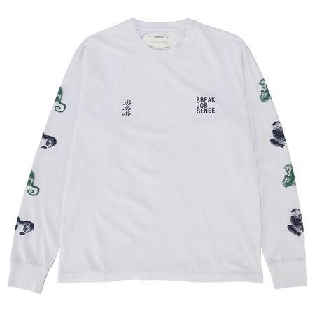 Reception No Sense Long Sleeve T-shirt / White