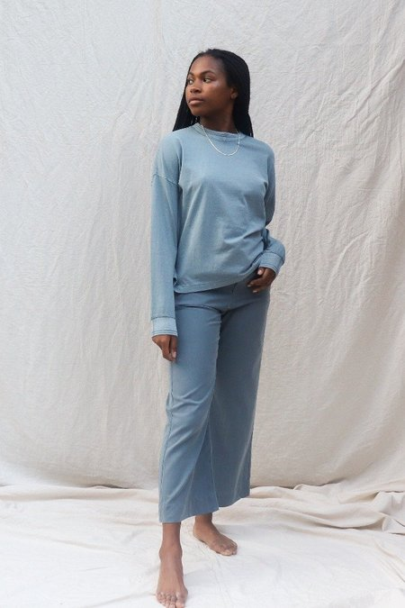 Richer Poorer RELAXED LONG SLEEVE PULLOVER - BLUE MIRAGE