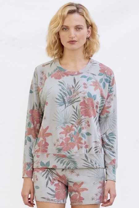 Sundry Tropical Pullover - Lilac Multi