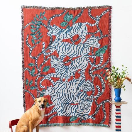 Olivia Wendel Red Tigers Blanket