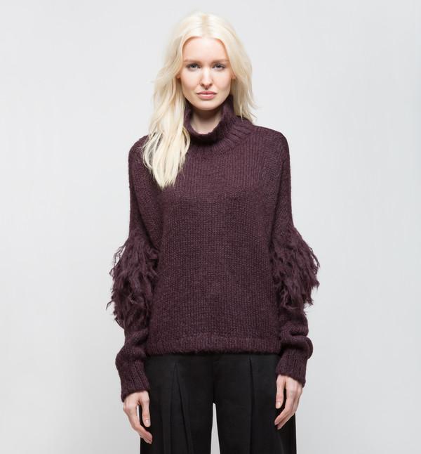 Laura Siegel Turtleneck Sweater Purple Smoke