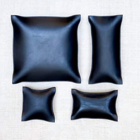 Made Solid Hand Shaped Tray - Black
