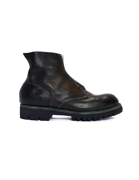 Guidi Leather Vibram Sole Zip Boots - Green