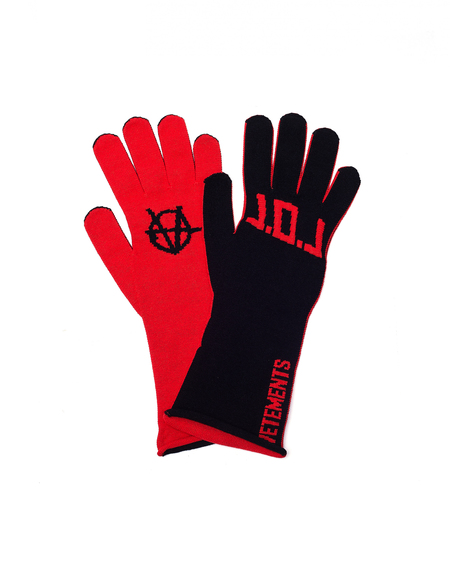 Vetements L.O.L. Gloves - Black/Red