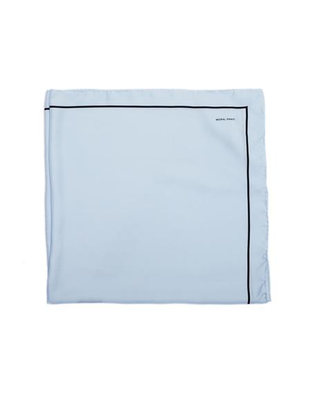 OAMC Frame Foulard Printed Silk Scarf - Blue