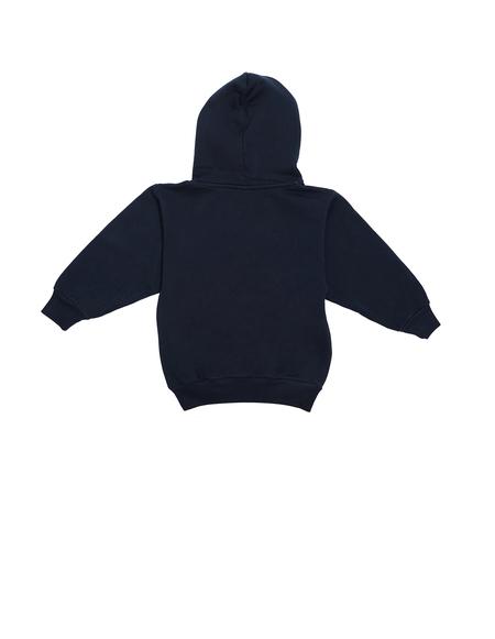 Balenciaga Kids Navy Blue Cotton Hoodie