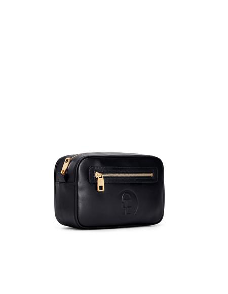 Honey Fucking Dijon Leather Wash Bag - Black