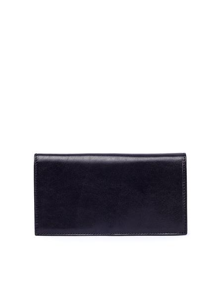 Ugo Cacciatori Leather Long Pocket Wallet - Black