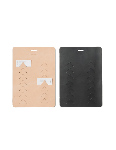 Hender Scheme Leather Wall Card Clip - Black