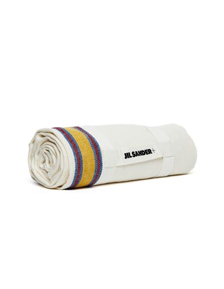 Jil Sander Striped Linen Blanket - Beige