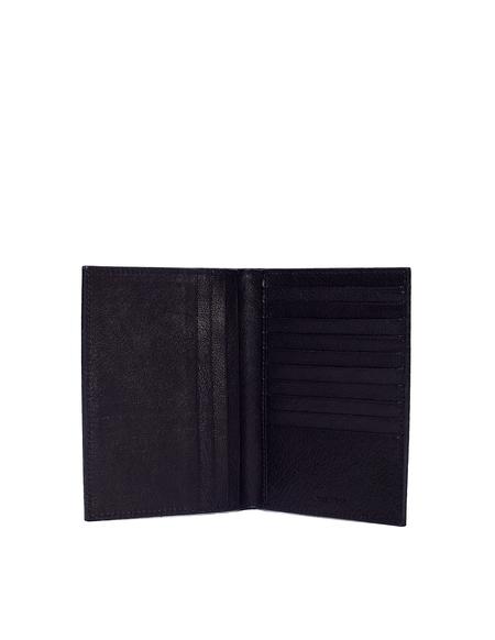 Ugo Cacciatori Grained Leather Passport Wallet - Black