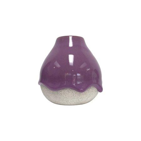 Brian Giniewski Short Bulb Bud Vase - Plum/Ash