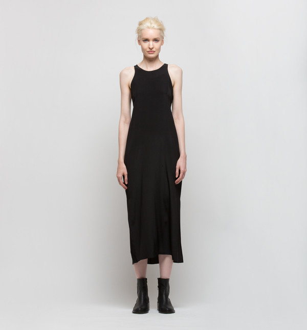 VOZ Cami Slip Dress Black
