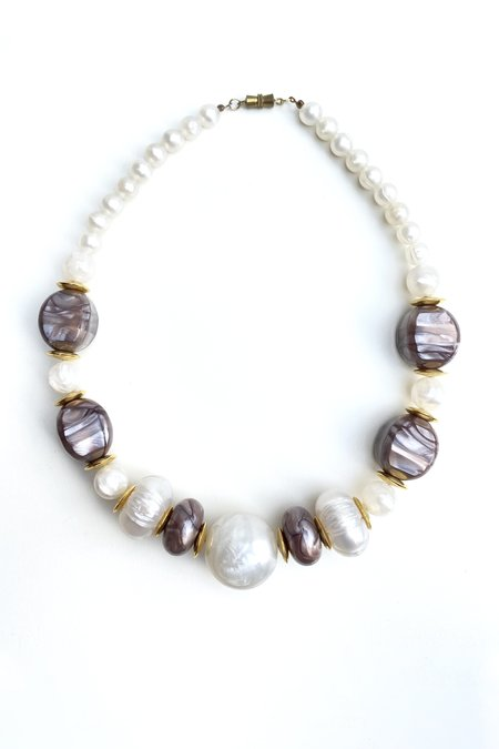 Vintage Faux Pearl Statement Necklace