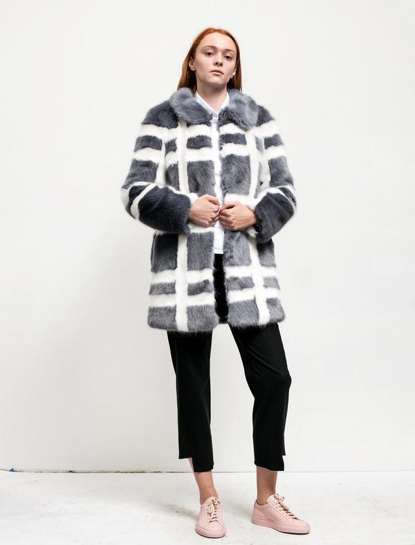 Shrimps Womens Edith Coat Flint/Cream