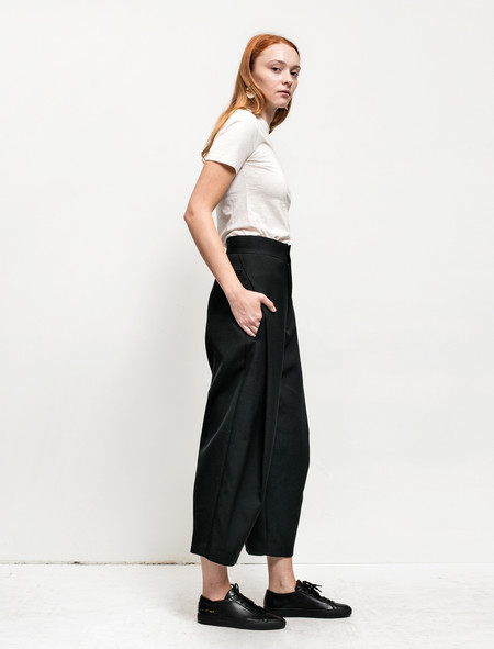 Ys by Yohji Yamamoto Womens Tuck Pleat Trousers