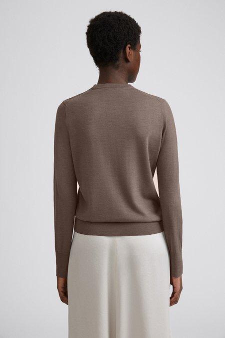 Filippa K Merino Round Neck Sweater - Dark Taupe