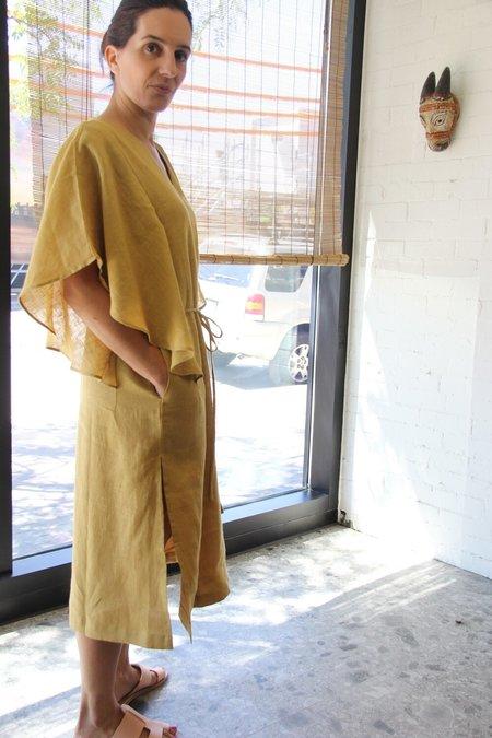 ALOJA The Summer House Morrison Dress - Mustard