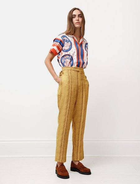 BODE Psychedelic Wave Trousers - yellow