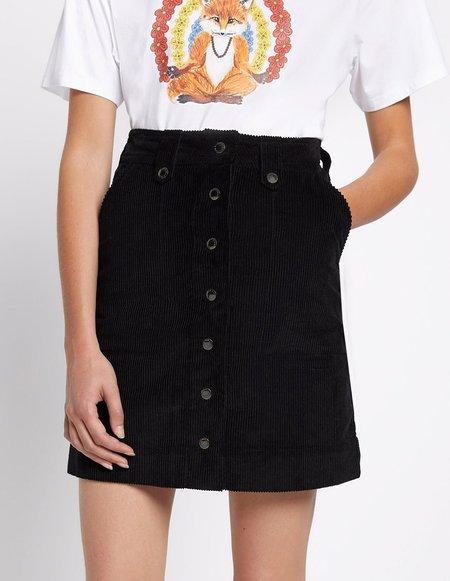Kitsune Alma Buttoned Skirt - Black
