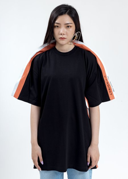 Y/project Wing Panel T-Shirt - Black