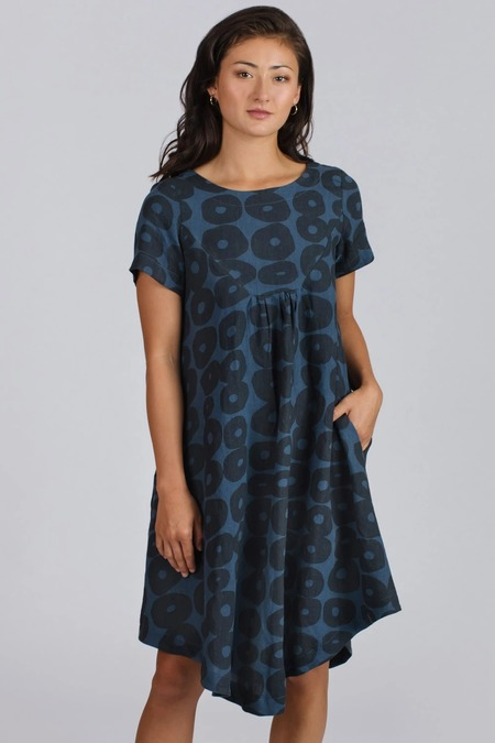Allison Wonderland Rosier Dress - Blue Circles