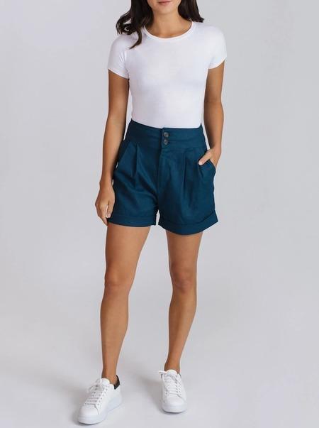 Allison Wonderland Barres Shorts - Teal
