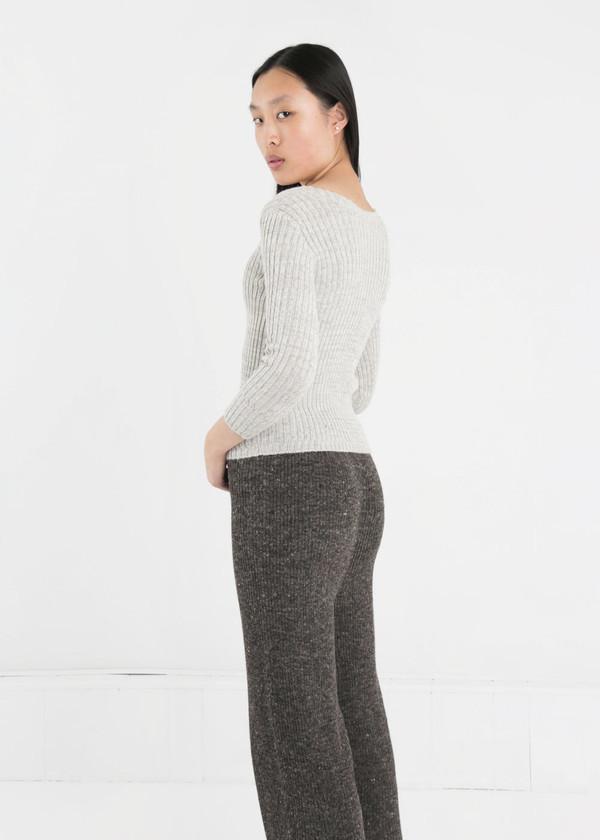 été noir Ribbed Knit Sweater