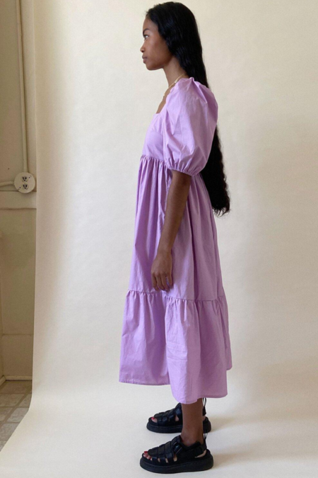 Bronze Age Serenity Puff Sleeve Dress - Lavender