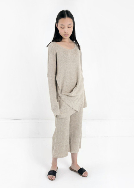 Kordal Sand Grey Evelyn Sweater