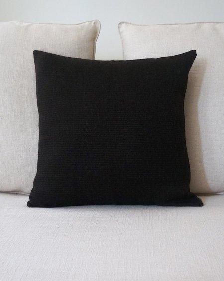 VOZ Solid Baby Alpaca Euro Pillow - Chocolate