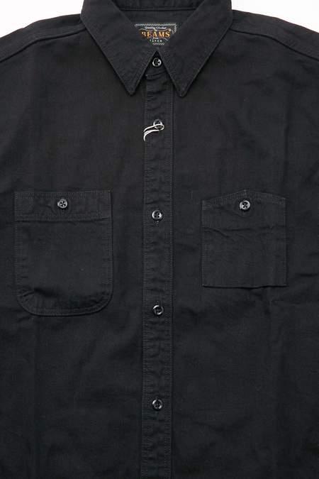 Beams Plus WORK Denim Shirt - Black