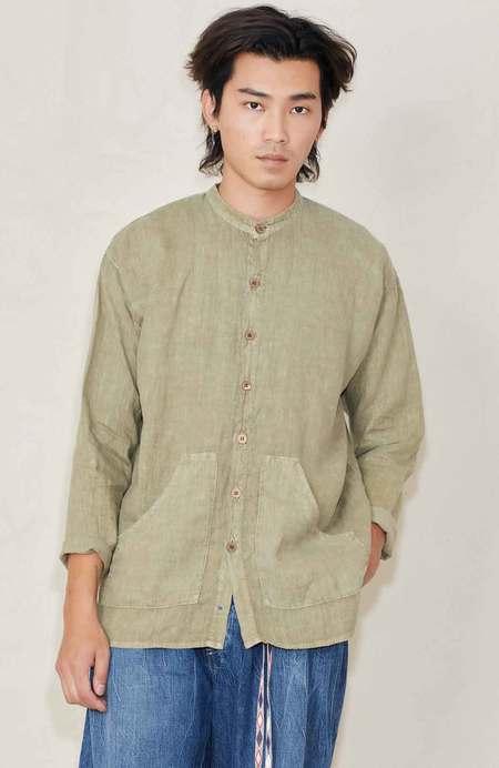DR COLLECTORS Linen Pigment Dye Shirt - Desert