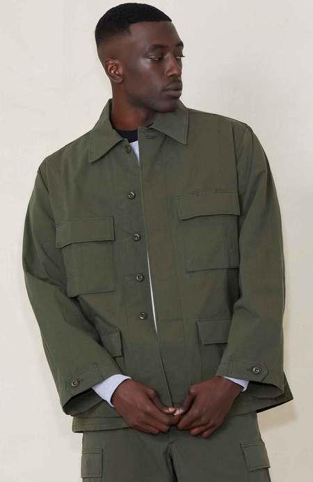 WTAPS WMILLS NYCO Ripstop Long Sleeve Shirt - OLIVE DRAB