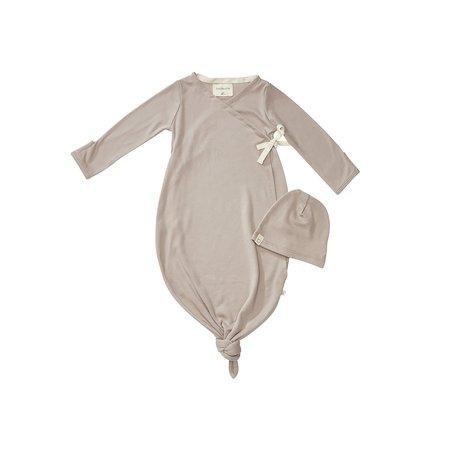 KIDS Bacabuche Organic Kimono Gown & Beanie - Fawn