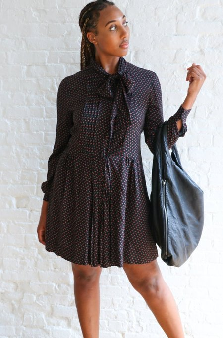 [pre-loved] Philosophy Di Lorenzo Serafini Floral Mini Dress - Black Floral