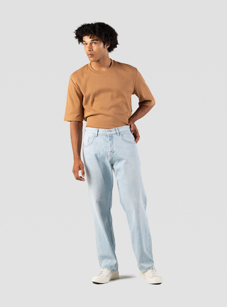I AND ME Organic Selvedge Baggy Jeans - Bleach
