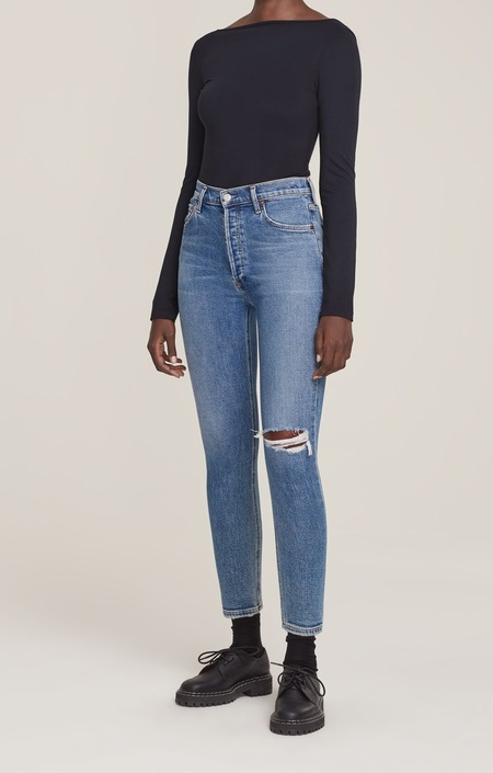 Agolde Nico High Rise Slim Jeans - Shoreline