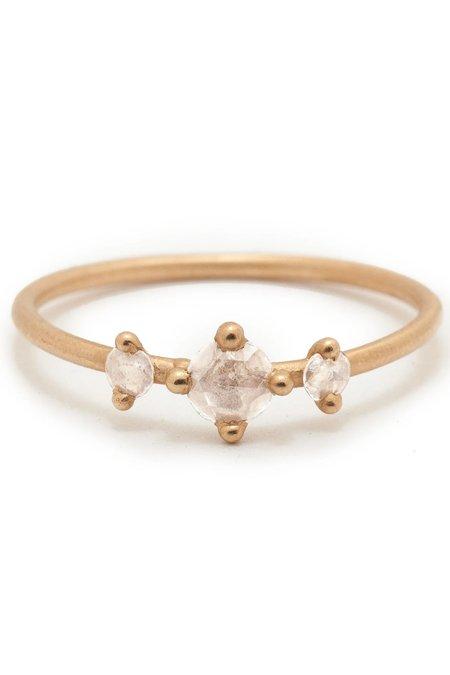 Valley Rose Three Diamond Daphne Ring
