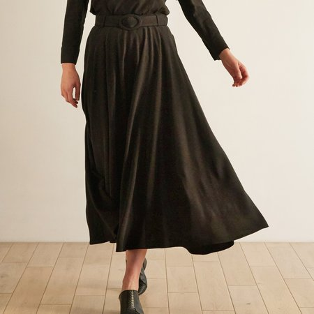 THE ODELLS Circle Skirt - Noir