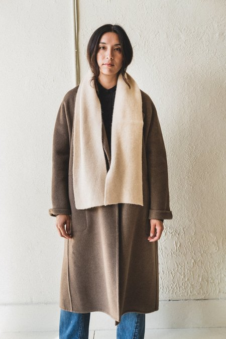 SEYA DOUBLE KNIT SCARF IN UNDYED CASHMERE