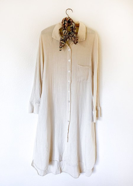 Filosofia Allison Button Down Dress - Cloud