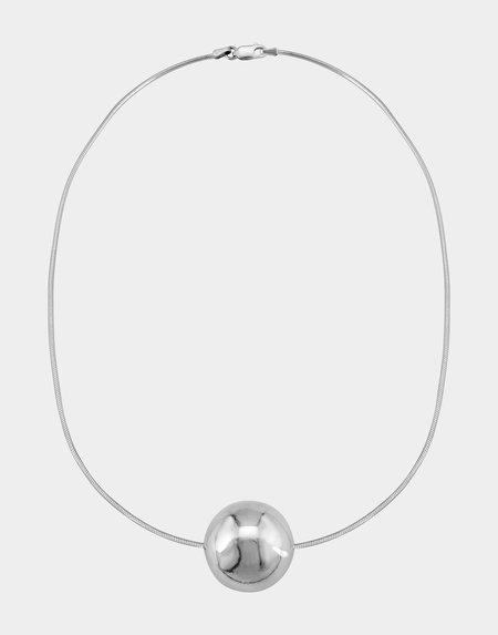 Modern Weaving Sphere Choker Necklace - Sterling Silver