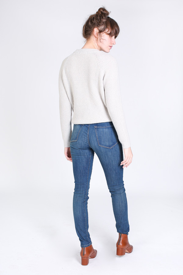 3x1 High rise channel seam skinny jean in kaito