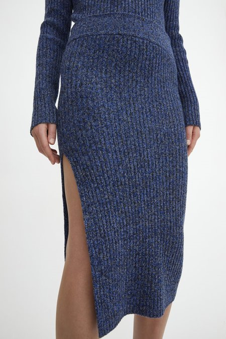 Rodebjer Lenata Knit Skirt - Dark Grey/Blue