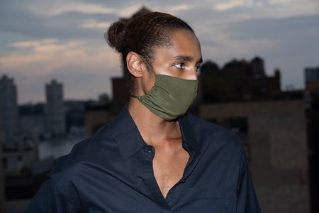 KES Sustainable Silk Washable Face Mask Pack - Military (3 in 1 Pack)