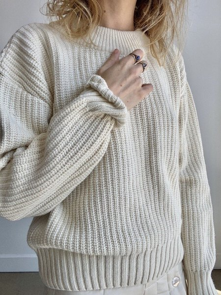signe Coco Knit Sweater - Ecru